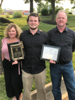 7/27/2018 Colton Millis, son of Brother Frank Millis, is awarded the Highest Scholarship given by the IAM Scholarship Selection Committee