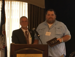 Local Chairman Mark Thompson honored at DL 19 8th Quadrennial Convention